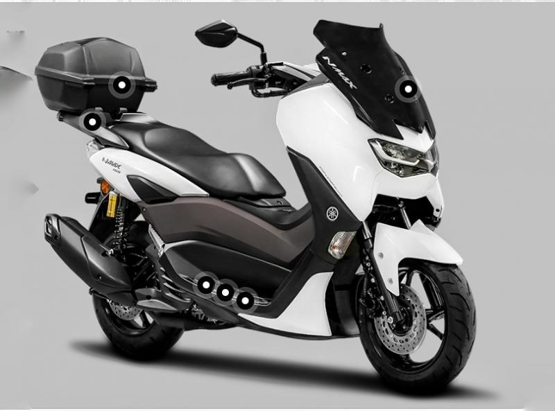 Berikut Ragam Aksesoris OEM All New Yamaha NMAX 155 2020
