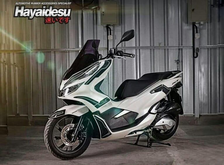 Simpel Tapi Kece, Lindungi Bodi Honda PCX 150 Pakai Hayaidesu Body Protector
