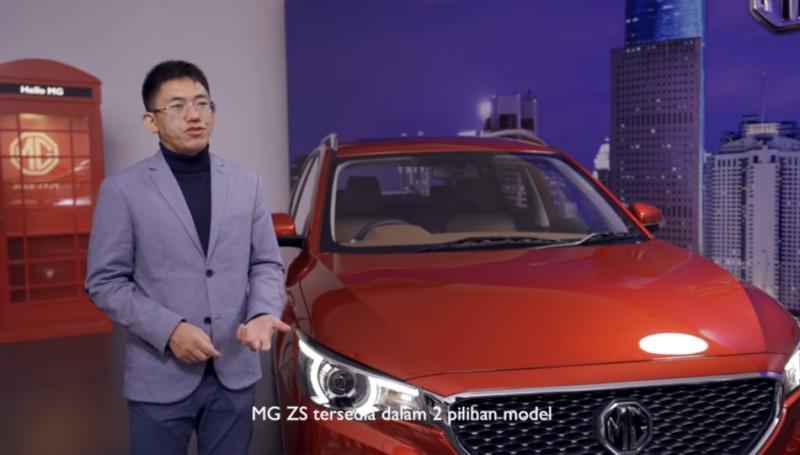 Figo Lee, Managing Director MG Motor Indonesia dalam sambutannya via video live streaming pada Selasa (24/3/2020). (anto)
