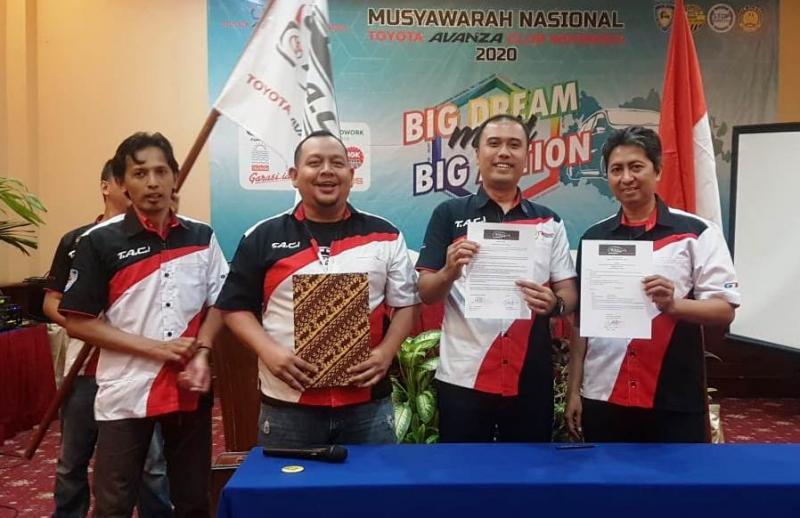 Saudara Yudha Citrawan ID 0758 terpilih menjadi Ketua Umum Baru periode 2020 - 2022, yang disahkan pada Berita Acara dan Surat Pengangkatan dari Dewan Penasehat Pusat TACI.(ist)