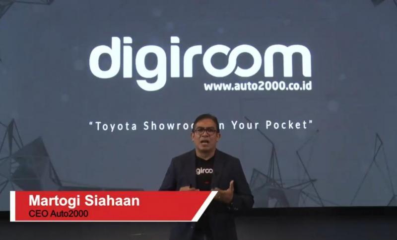 Martogi Siahaan, CEO Auto2000 dalam tayangan live streaming Virtual Launching Auto2000 Digiroom (26/3/2020). (anto)