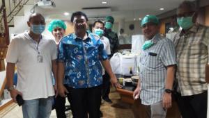 Dari kiri Ir. Anondo Eko, dr Simangunsong, dr Ramadhan Effendi dan dr Eka Suwabawa di RSUP Fatmawati sebagai Rujukan Covid 19