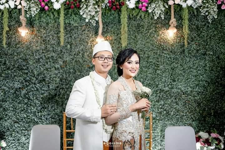 Gani hanya melangsungkan prosesi akad nikah saja di kediaman keluarga istri di kawasan Depok, Jawa Barat. (dok. Gani).