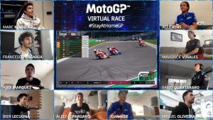 Sepuluh pembalap MotoGP yang meramaikan seri pembuka MotoGP Virtual Race 2020.  (Foto: motogp)