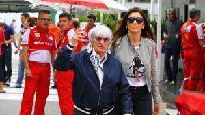 Eks supremo F1 Bernie Ecclestone dengan istri ke-3-nya, Fabiana Flosi. (Foto: fanshare)