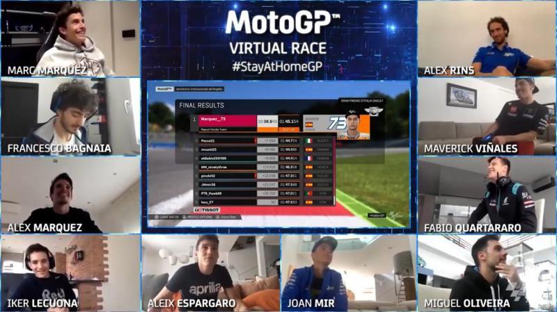Nyesel Enggak Nonton, Alex Marquez Jawarai Balap  MotoGP Virtual Race