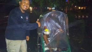 Mantap Rek, Tak Peduli Hujan CB Komphacs Memang Kompak Soal Aksi Sosial