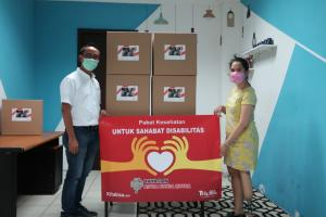Yayasan AHM Salurkan Ratusan Paket Bantuan Untuk Disabilitas