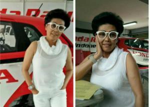 Lola Moenek, Uda Arminsyah ikut balap mobil dari 2008-2013 di sirkuit Sentul International, Bogor. (foto : bs)