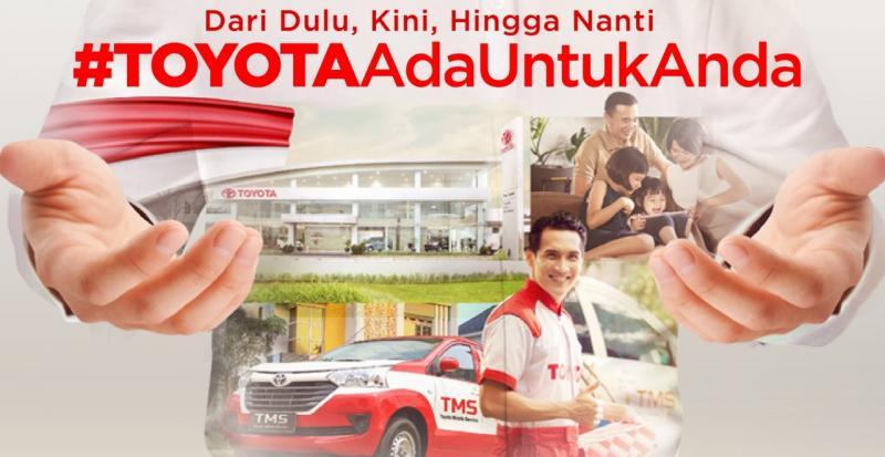 Pesan yang terkandung pada slogan ini merupakan komitmen Toyota untuk selalu hadir dan bantu konsumen di masa pandemi ini. (ist)