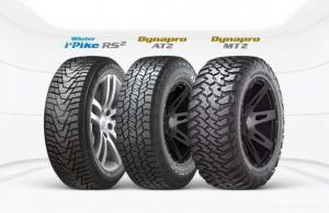Hankook Dynapro AT2 dan Hankook Dynapro MT2 merupakan produk yang juga tersedia serta cukup diminati di Indonesia, khususnya untuk segmen mobil SUV. (ist)