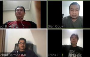 Dari kiri atas searah jarum jam : Fredi Rostiawan, Dian Odoy, Frans Tanujaya dan Fachrul Sarman