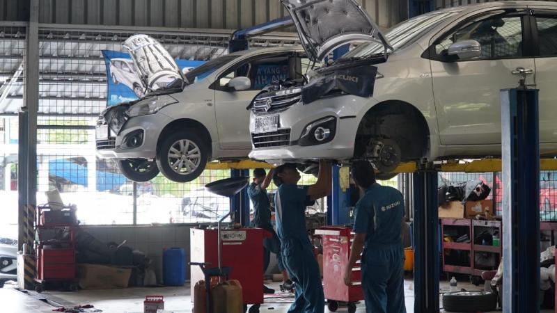 Suzuki pastikan ketersediaan spare parts dan adjust delivery kami ke dealer tetap berjalan menyikapi pabrik berhenti operasionalnya. (ist)
