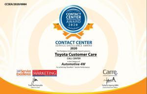 Toyota Perusahaan Otomotif Dengan Layanan Contact Center Terbaik 2020