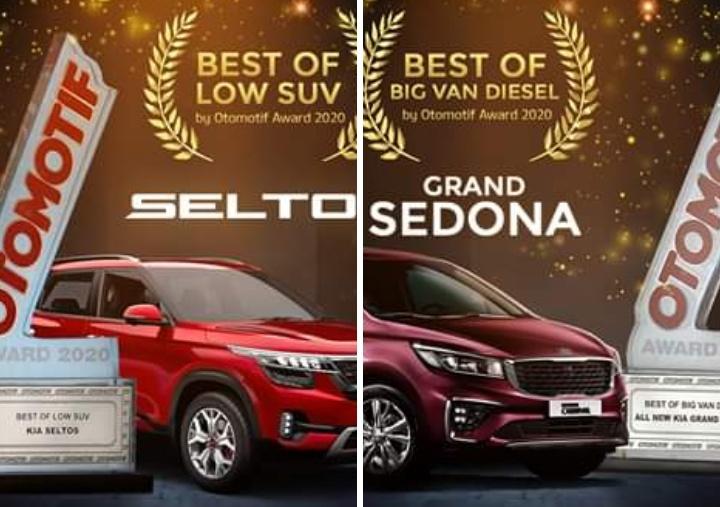 New KIA Grand Sedona dinobatkan sebagai Best Big Van Diesel dan All New KIA Seltos diberikan apresiasi sebagai Best Low SUV di ajang tahunan ini. (KIA)