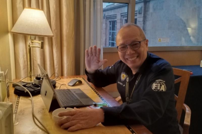 Jeffrey JP,  berharap pandemi covid-19 segera berakhir dan event balap bisa kembali dilangsungkan. (foto : bs)
