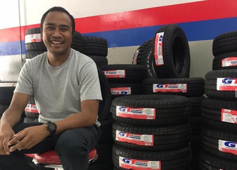 Haridarma Manoppo, brand ambassador ban produk nasional GT Radial produksi PT Gajah Tunggal Tbk