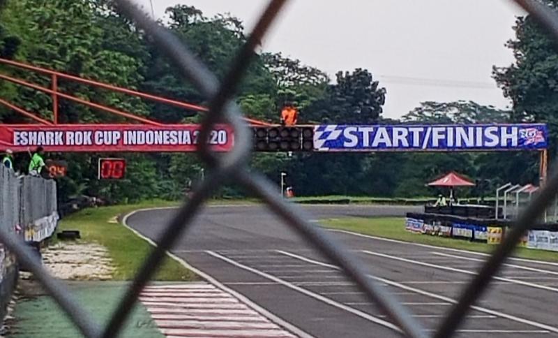 Sentul International Karting Circuit, mungkin mulai dipikirkan mekanisme balapan tanpa penonton oleh para stake holder balap. (foto : bs)