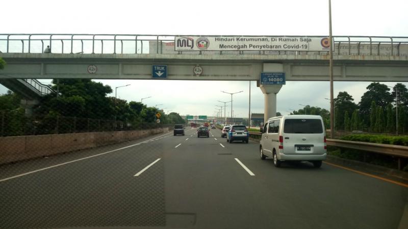 Selama PSBB  di Jakarta, PT Jasa Marga mencatat pelanggaran oleh pengendara justru meningkat di jalan tol