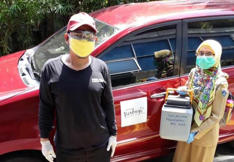 Toyota siapkan unit Toyota Avanza untuk armada dari Puskesmas Koja Jakarta Utara ke laboratorium penguji