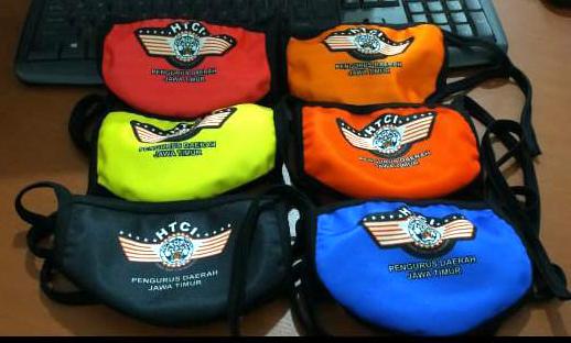 Mantap, HTCI Pengda Jatim Bagi-Bagi Masker Limited Edition