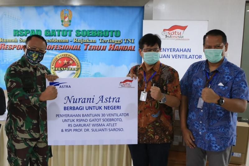 Penyerahan bantuan dari Astra ke Rumah Sakit RSPAD