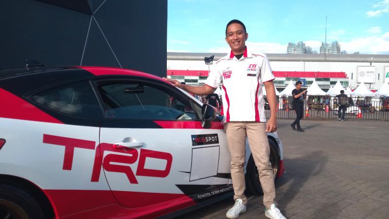 Demas Agil, pembalap Toyota Team Indonesia yang ikutan Ramadhan Rally Indonesia 2020 virtual. (foto : tti)