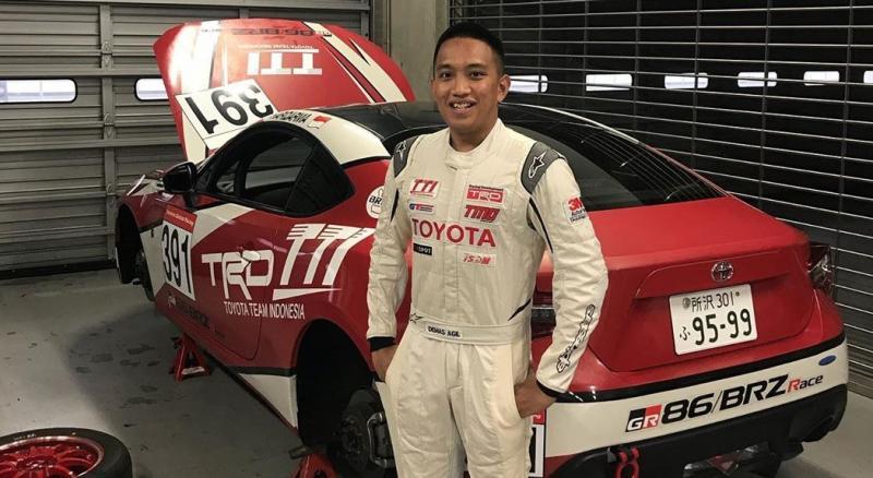 Demas Agil saat mengikuti Toyota Gazoo Racing Festival di Jepang