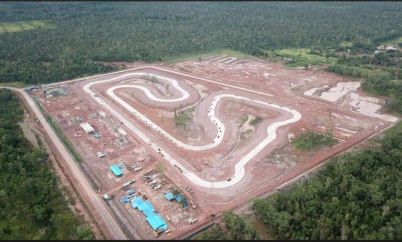 Sirkuit Merauke Papua untuk ajang balap motor PON Papua yang ditunda Oktober 2021. (foto : Pangky Ardamis)