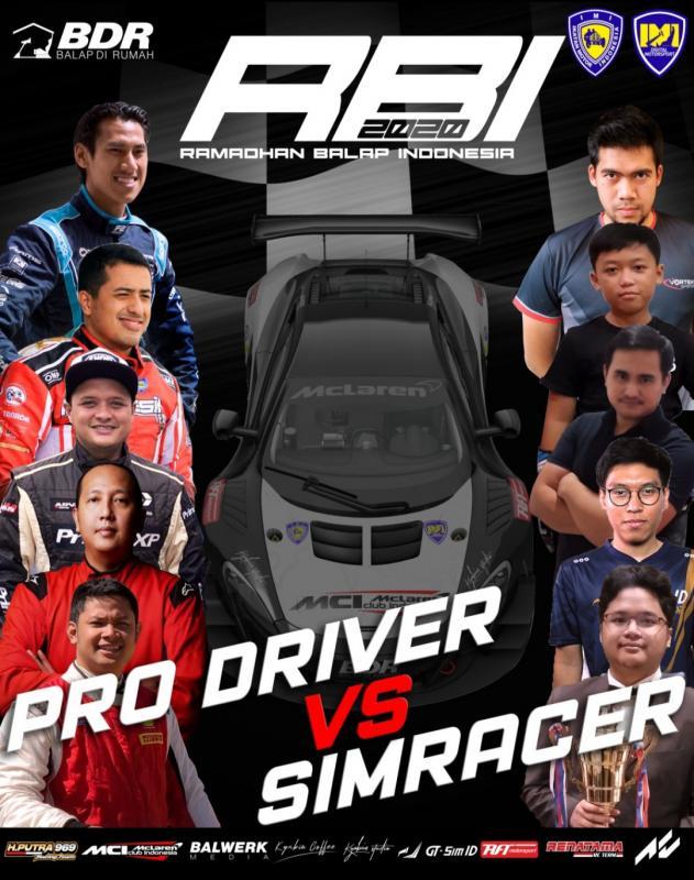 Bentrok Pro Driver vs SIM Racer di seri 1 Ramadhan Balap Indonesia 2020