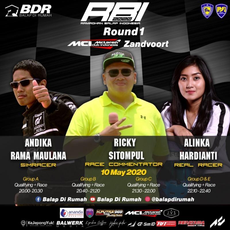 Dari kiri Andika Rama Maulana, Ricky Sitompul dan Alinka Hardianti akan meriahkan Ramadhan Balap Indonesia esok