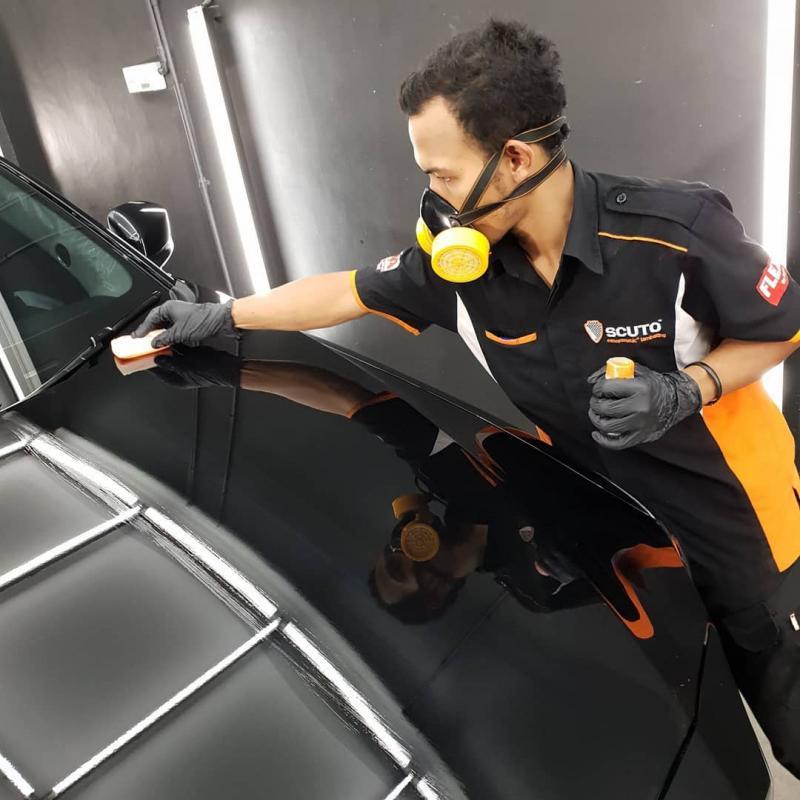 Dalam Program Lebaran Scuto ini, konsumen tetap mendapatkan layanan free disinfektan pada interior mobil.