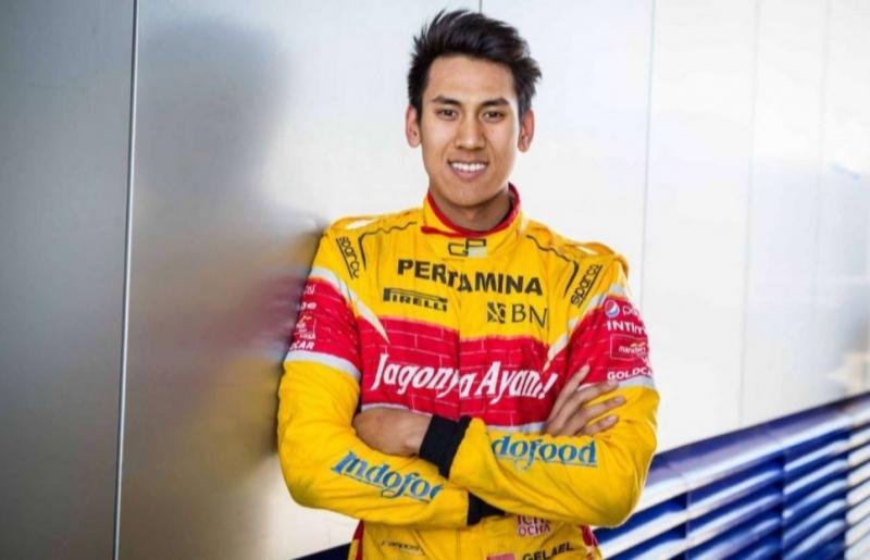 Sean Gelael jadi wakil Pro Driver dengan raihan terbaik di Ramadhan Balap Indonesia 2020 di Rumah malam ini. (foto : ist)
