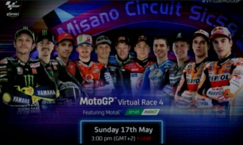 Para pembalap yang akan meramaikan seri 4 virtual MotoGP di sirkuit Misano, San Marino akhir pekan ini