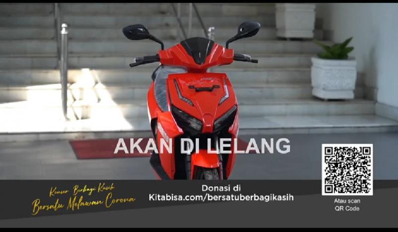 Motor listrik produksi dalam negeri ditanda tangani Presiden Jokowi akan dilelang di konser Berbagi Kasih Bersama Bimbo