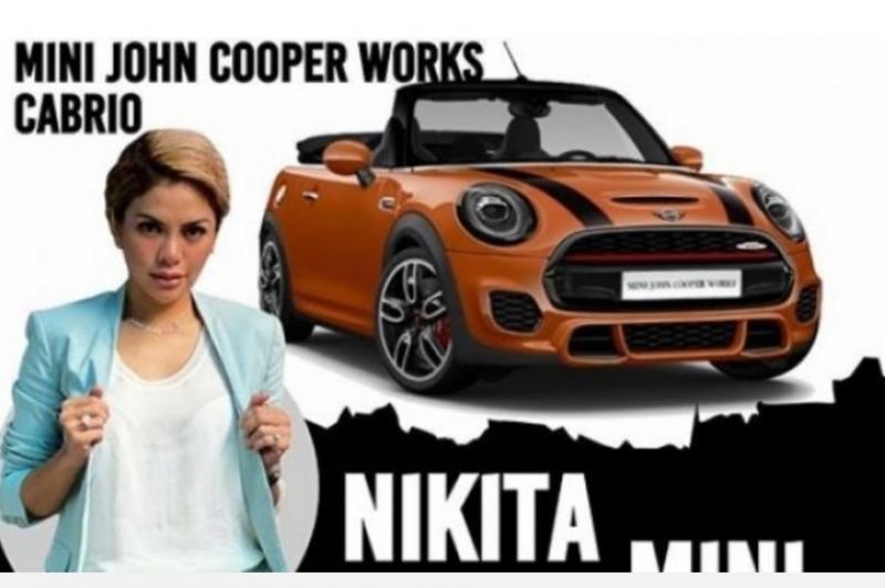 Mini John Cooper Works Cabrio milik Nikita Mirzani, spidometer 0 dengan hasil lelang lebih rendah dari harga belinya. (Ig nikita)