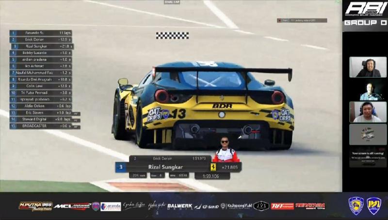 Group utama masih dikuasai Sim Racer, Pro Driver mulai menggeliat di Ramadhan Balap Indonesia 2020 seri 3