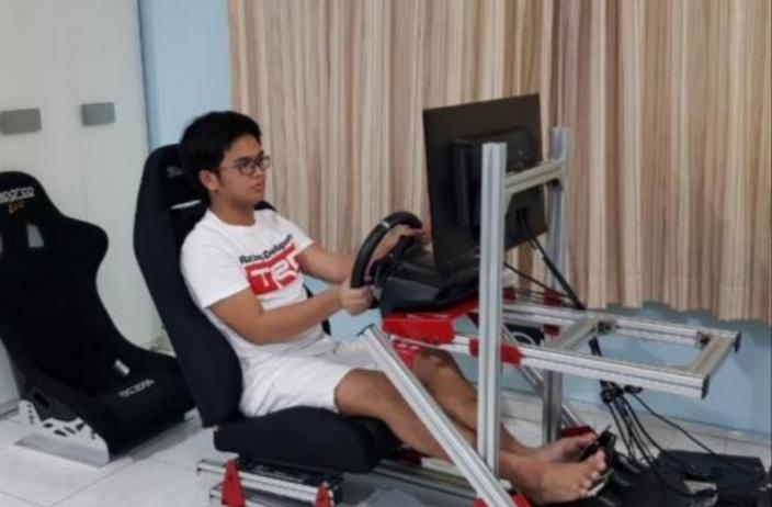 Mirza Putra Utama juara Group E seri 3 kejuaraan balap virtual Ramadhan Balap Indonesia 2020. (foto : ist)