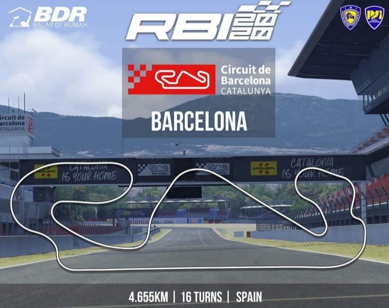 Sirkuit Barcelona Spanyol akan menjadi ajang race 4 Ramadhan Balap Indonesia nanti malam
