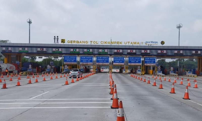 PT Jasa Marga melaporkan jalan tol Trans Jawa sepi 3 hari jelang Idul Fitri 2020