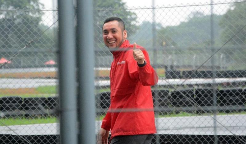 Kemas Haikal, telah menerapkan protokol kesehatan untuk latihan di Sentul International Karting Circuit