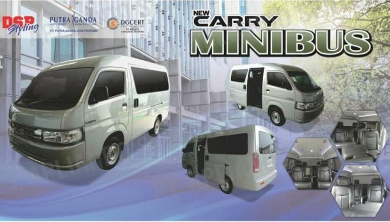 Rumah modifikasi DSP Styling di bawah bendera karoseri PT Putra Ganda Jaya Pratama merilis New Carry dengan ubahan versi bodi minibus dan blind van yang siap dipasarkan. (dsp.styling)