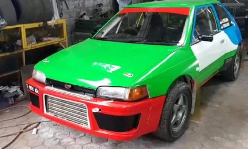 Mazda2 yang siap dijadikan sebagai pacuan pereli Ade Berliana. (foto : ist)