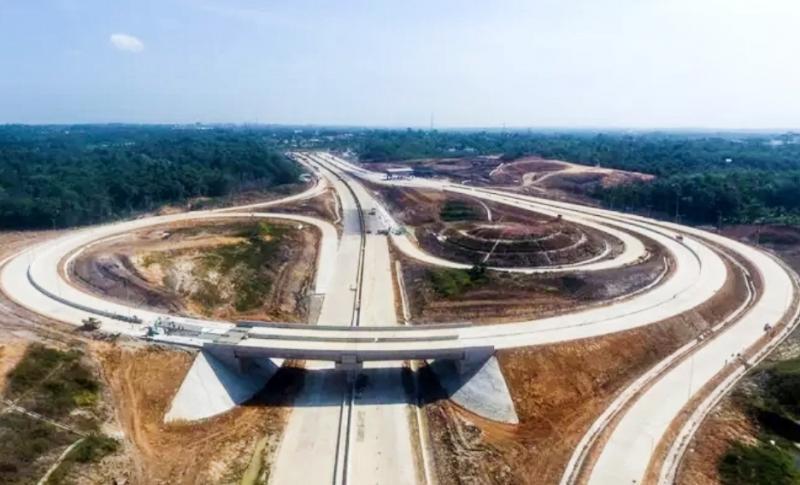 Simpang susun tol Balikpapan - Samarinda yang segera diresmikan akhir Juni 2020. (ft : liputan6):
