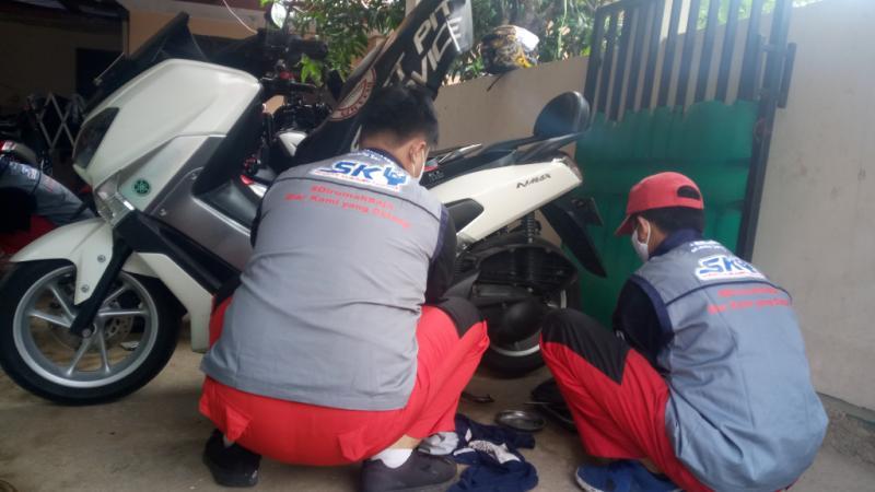 Cek kondisi vbelt motor agar motor selalu dalam kondisi prima