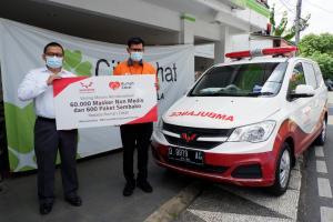 Donasi Sembako dan Masker Wuling disalurkan melalui Rumah Zakat kepada Desa Berdaya di Jawa Barat dan D.I. Yogyakarta. (ist)
