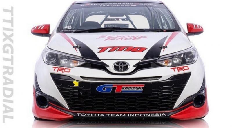 Toyota New Yaris andalan TTI di ajang balap mobil ISSOM dengan support ban GT Radial Champiro SX2. (foto : tti)