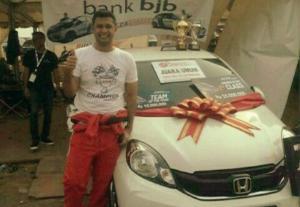 Umar Abdullah, balap mobil ISSOM dengan live streaming bakal membuat keren dan booming. (foto : bs)