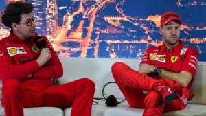 Mattia Binotto dan Sebastian Vettel, masih bersama di Ferrari hingga Desember 2020 (Foto: worldtodaynews)