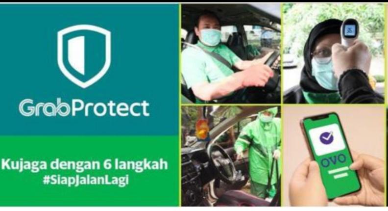 GrabProtect akan memberi rasa aman dengan utamakan kebersihan mitra driver dan penumpang di masa New Normal nanti. (foto : ist)